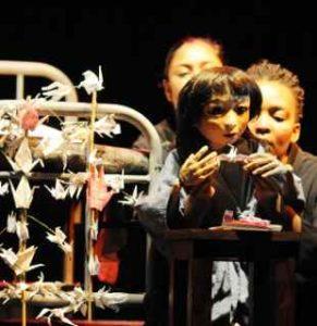 National Arts Festival 2011. Sadako. Writer: Peter Hayes. Director: Jaqueline Dommisse, PUppet Design: Janni Younge. Actor Puppeteers: Roshina Ratnam, Lee-Ann van Rooi, Mbulelo Grootboom, Lesoko Seabe, Pascale Neuschafer.