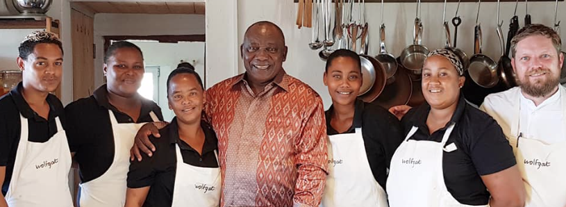 Cyril Ramaphosa and Team Wolfgat